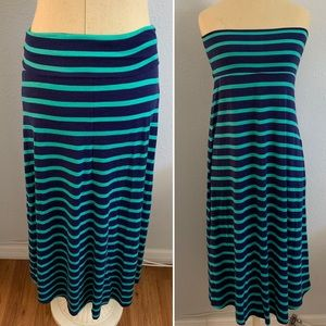 Mossimo Supply Co. Skirts - Mossimo Maxi Skirt (or dress!) Green Navy
